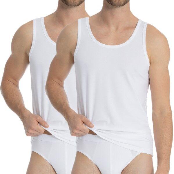 Calida 2 pakkaus Natural Benefit Athletic Shirt - White