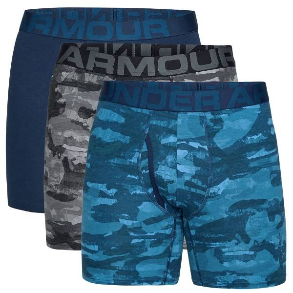 Under Armour 3 pakkaus Charged Cotton Boxerjock - Black/Blue