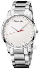 Calvin Klein K2G2G1Z6 Valkoinen/Teräs Ø43 mm K2G2G1Z6