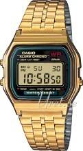 Image of Casio A159WGEA-1EF Casio Collection Kullansävytetty teräs 36.8x33.2 mm A159WGEA-1EF