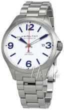 Hamilton H76525151 Valkoinen/Teräs Ø42 mm H76525151