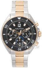 Nautica NAPNWP006 Newport Musta/Punakultasävyinen Ø47 mm NAPNWP006