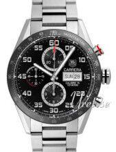 TAG Heuer AG Heuer CV2A1R.BA0799 Carrera Calibre 16 Day Date Automatic Chronograph Musta CV2A1R.BA0799