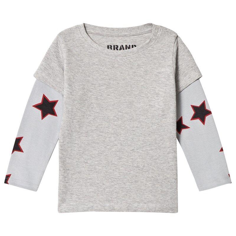 The BRAND Red Allstar Double T-paita Grey Mel80/86 cm