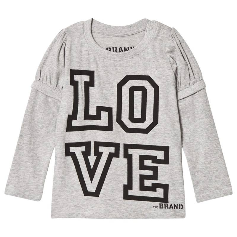 The BRAND Love Kiss T-paita Harmaameleerattu116/122 cm