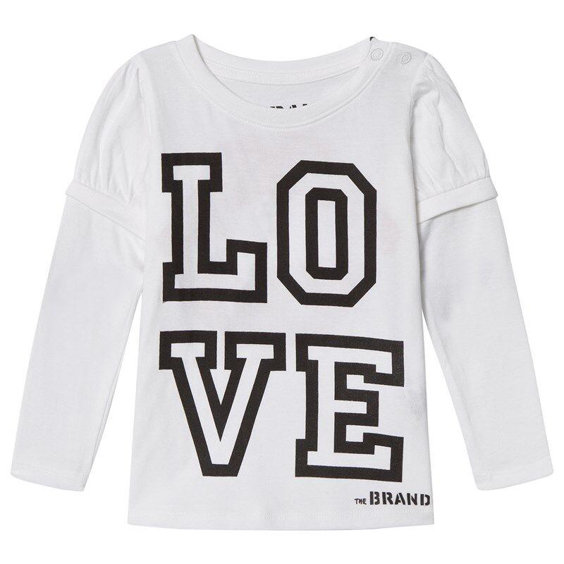 The BRAND Love Kiss T-Paita Valkoinen104/110 cm