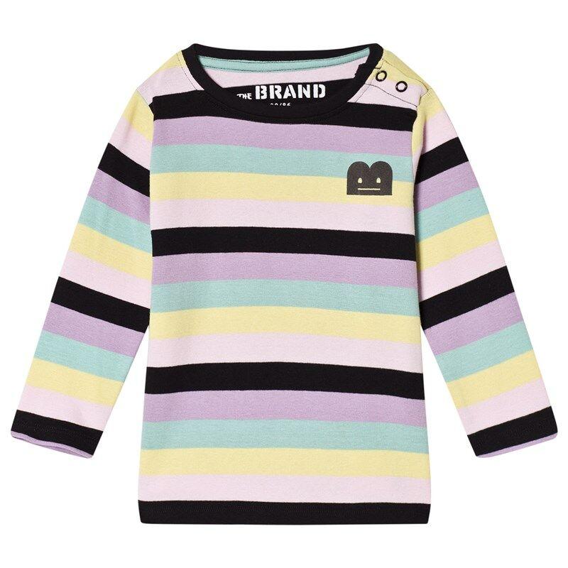 The BRAND B-Moji T-paita Pastelliraitainen104/110 cm