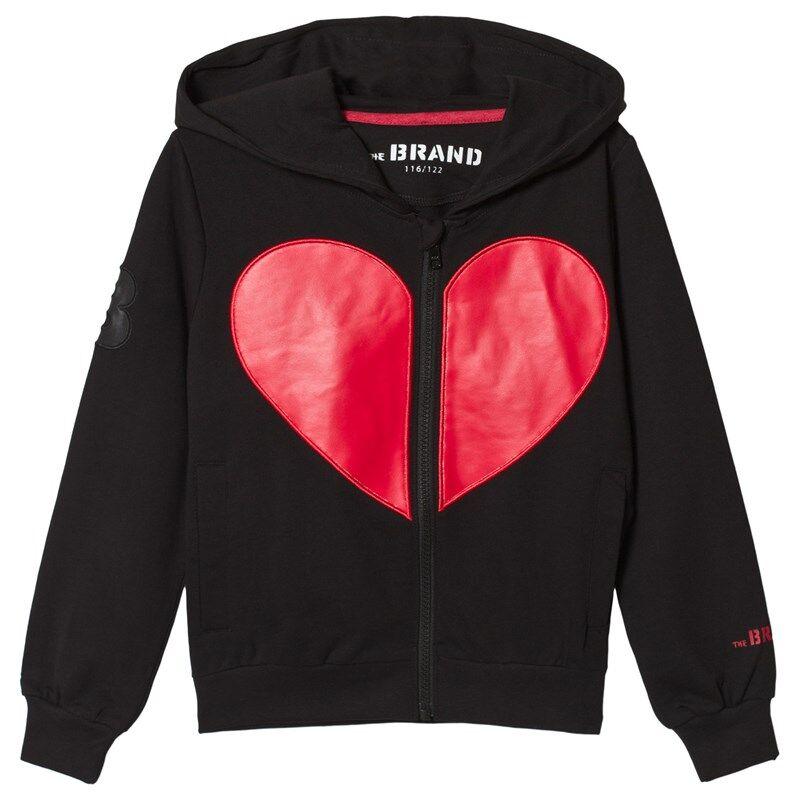 The BRAND Heart Hoodie Musta80/86 cm