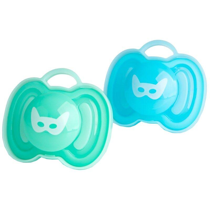 Herobility Tutti, HeroPacifier, 0+ kk, 2 kpl, Blue/Turquoise