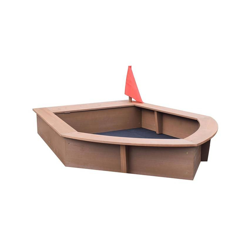 Oliver & Kids Sandbox Boat 160*116*21,5 cm Brown