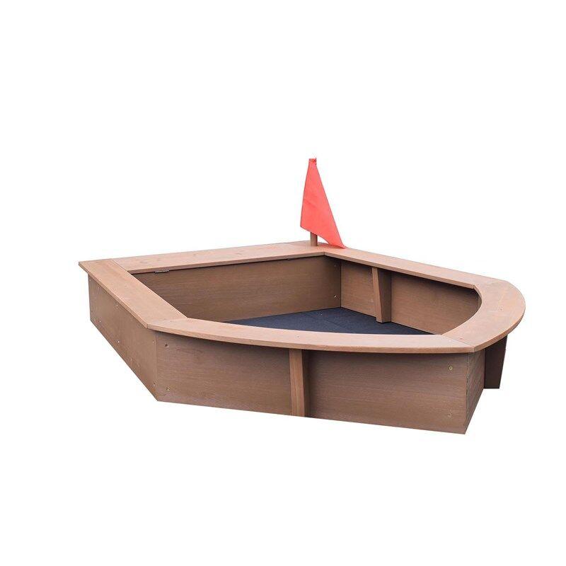 Oliver & Kids Sandbox Boat 160*116*21,5 cm Brown