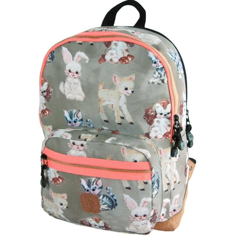 Pick & Pack Reppu, Cute Animals, Taupe