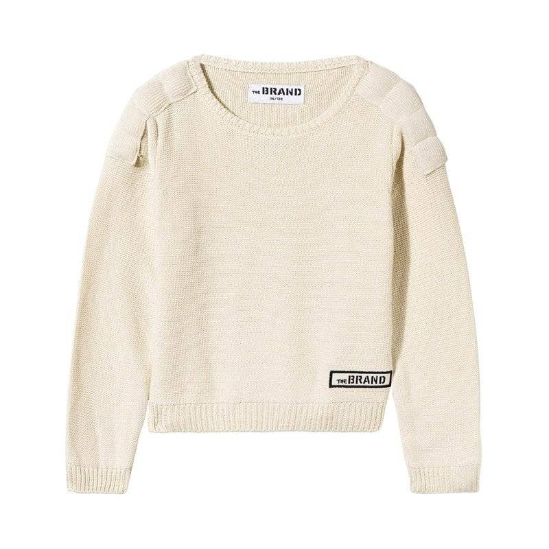 The BRAND Neule Uni MC Off White80/86 cm