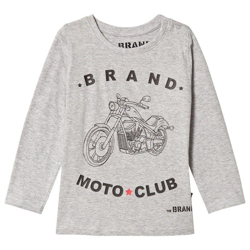 The BRAND Moto Club T-shirt Grey Mel80/86 cm
