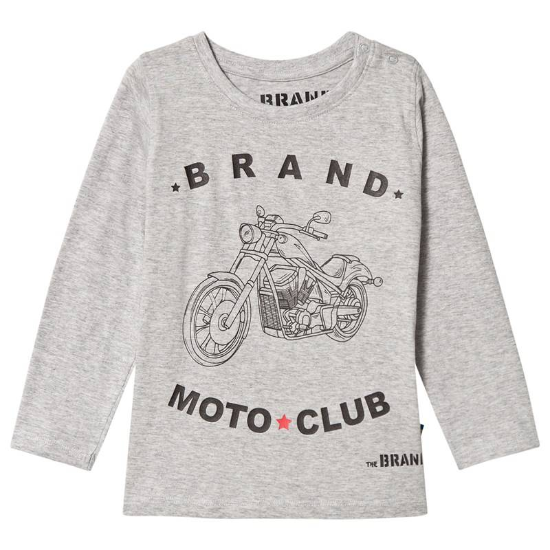 The BRAND Moto Club T-shirt Grey Mel104/110 cm