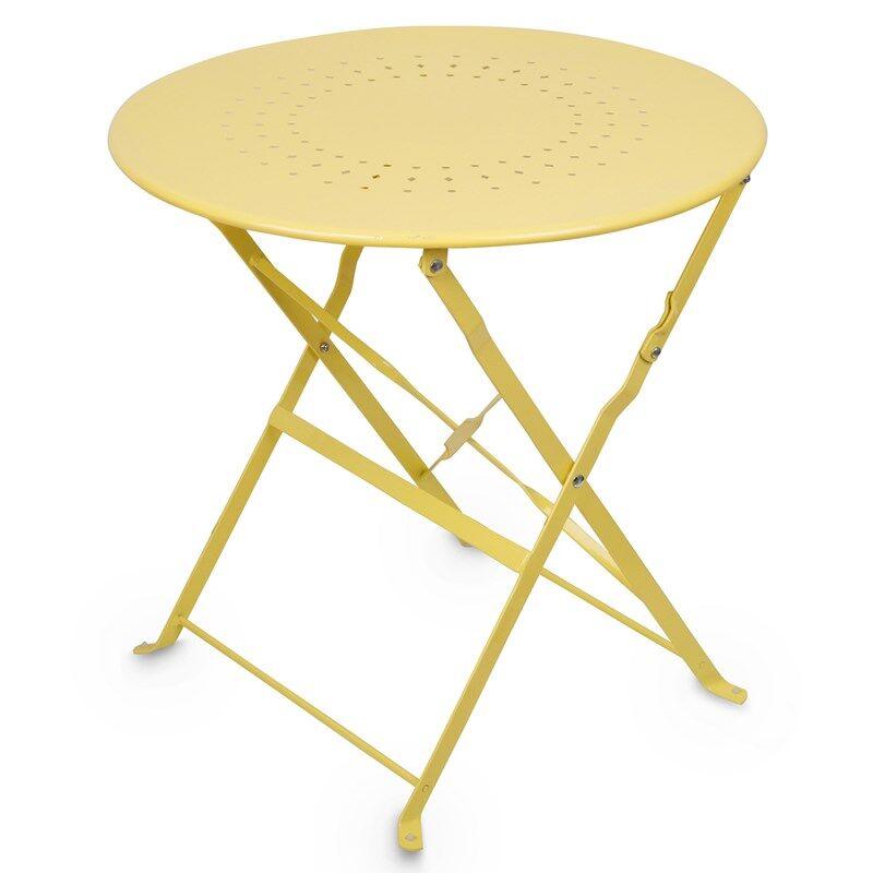 JOX Furniture Kahvilapöytä Metalli Keltainen