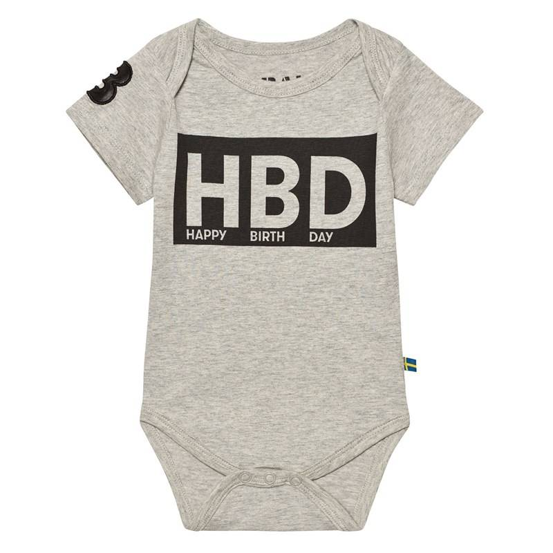 The BRAND HBD Vauvan Body Harmaameleerattu68/74 cm