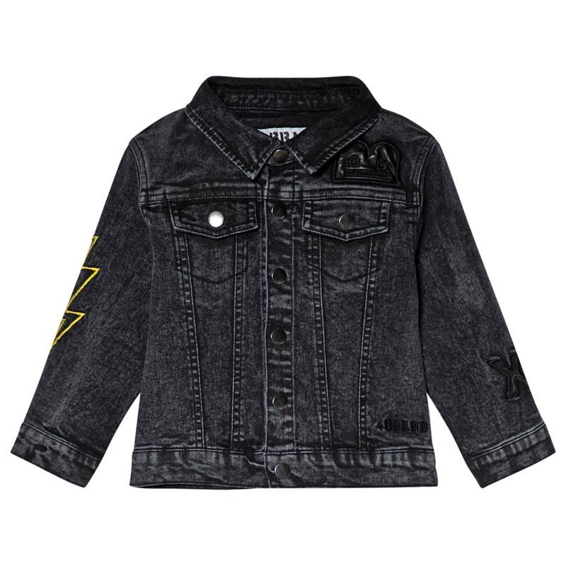 The BRAND Fringe Denim Jacket Stone Wash Distressed Grey140/146 cm