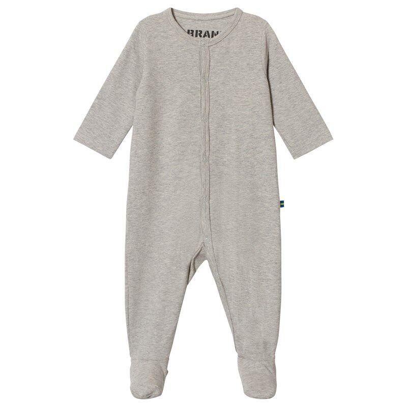 The BRAND Baby Pyjama Grey Melange68/74 cm