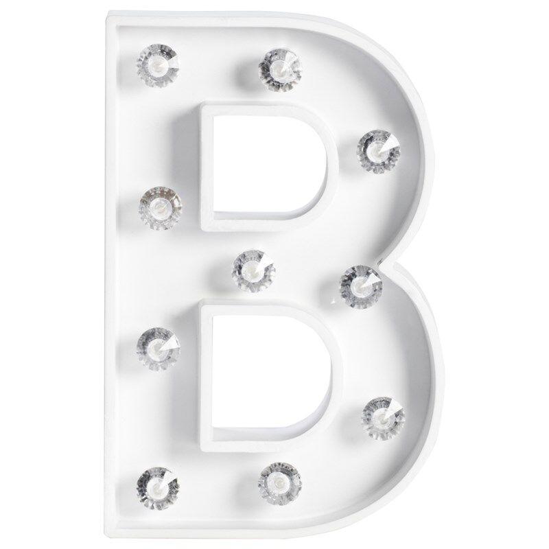 JOX Kirjainvalaisin B Valkoinen
