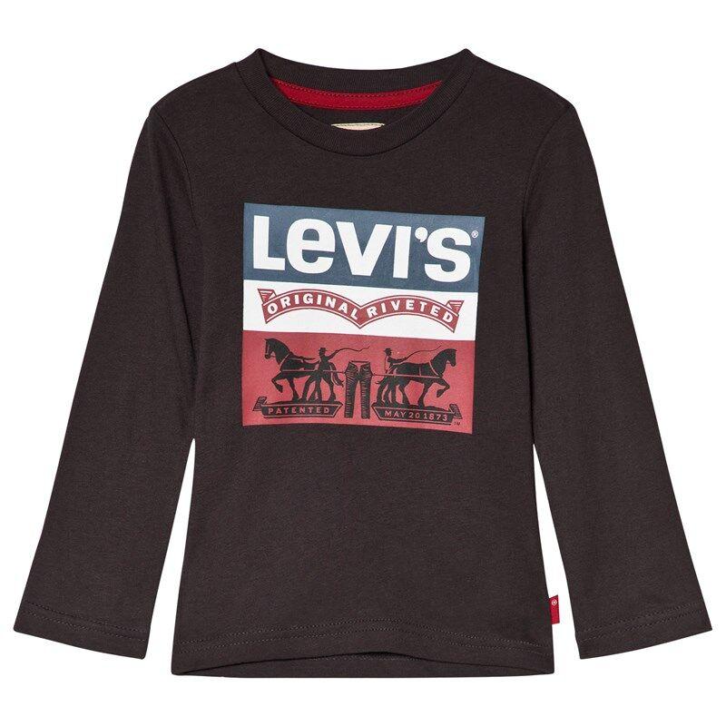 Levis Kids Authentic Pitkähihainen Logollinen T-Paita Harmaa6 years