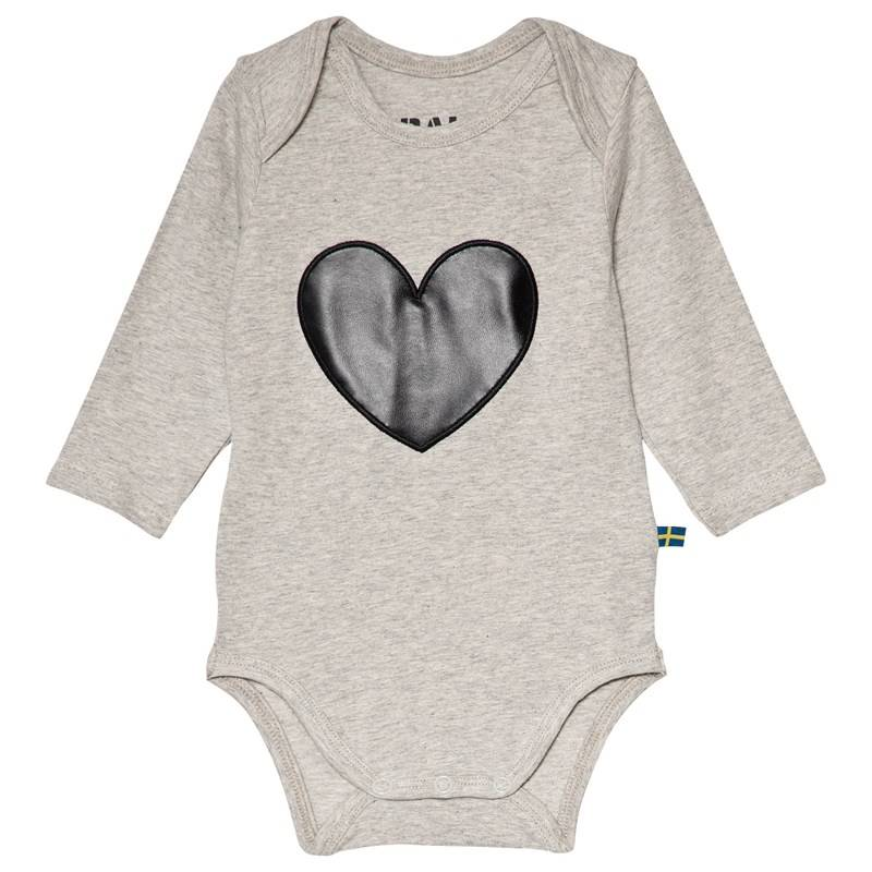 The BRAND Heart Baby Body Harmaa Melange92/98 cm