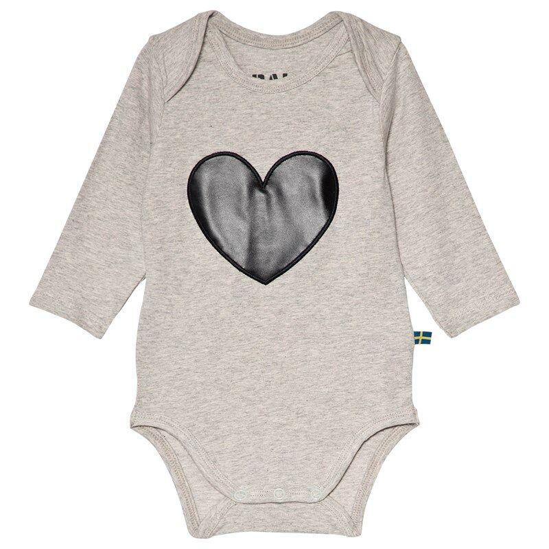 The BRAND Heart Baby Body Harmaa Melange56/62 cm