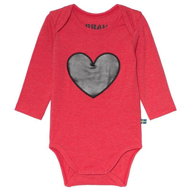 The BRAND Heart Baby Body Punainen Melange68/74 cm