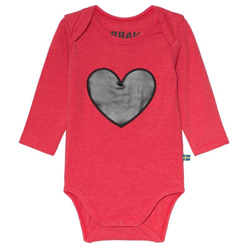 The BRAND Heart Baby Body Punainen Melange68/74 cm