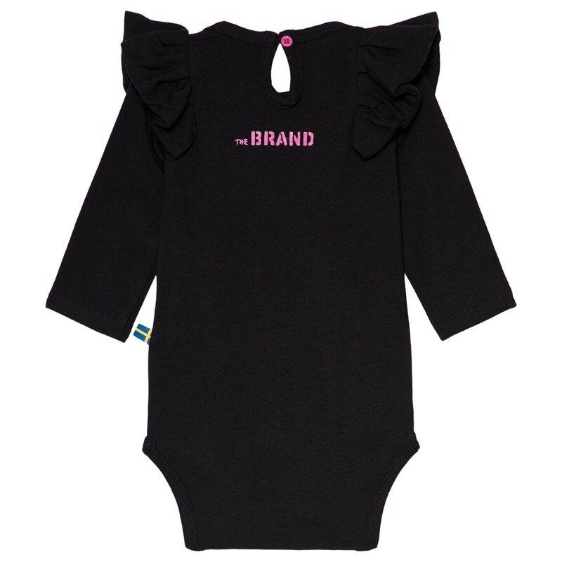 The BRAND Flounce Baby Body Musta56/62 cm