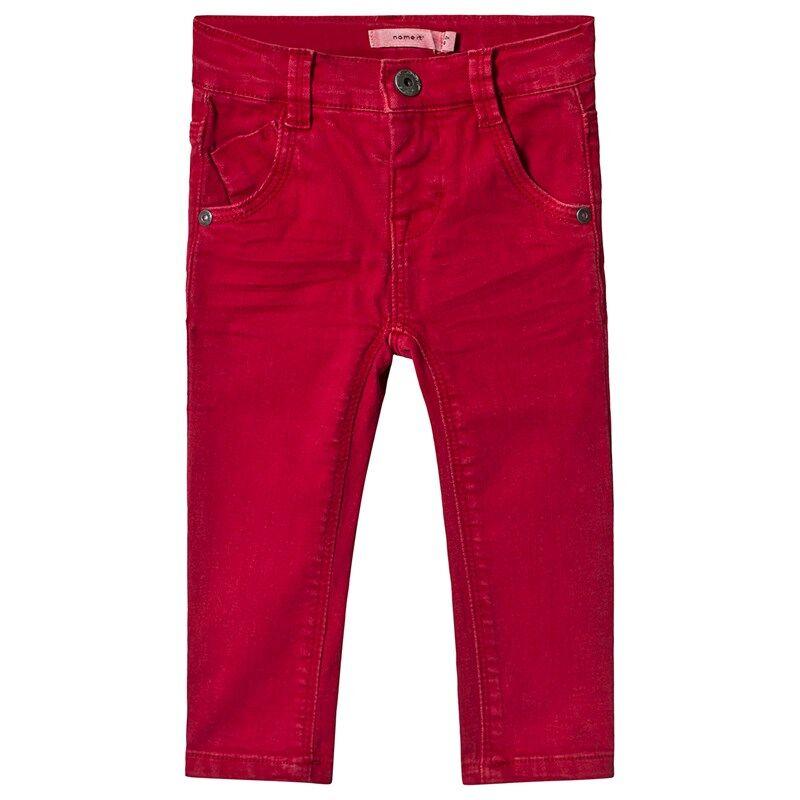Name It Theo Housut Jester Red80 cm (9-12 kk)