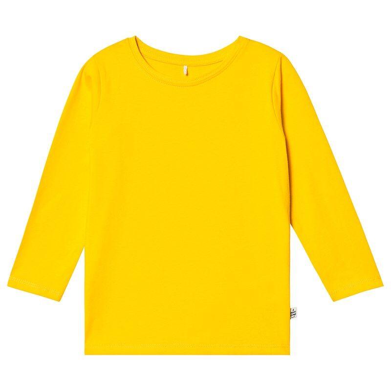 A Happy Brand Pitkähihainen T-paita Keltainen110/116 cm