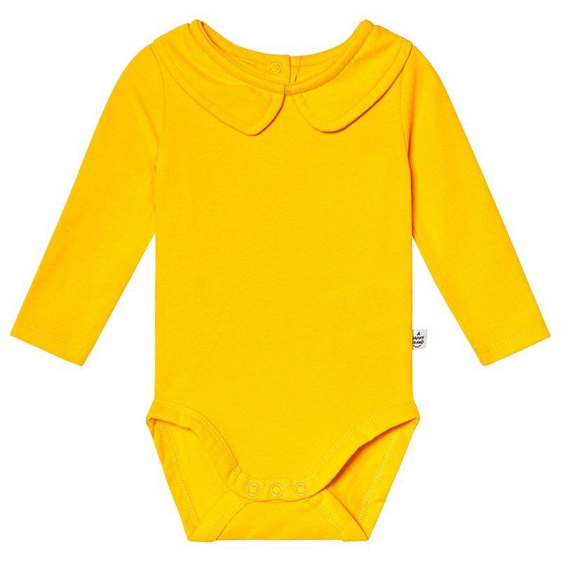 A Happy Brand Vauvanbody Kauluksella Keltainen50/56 cm