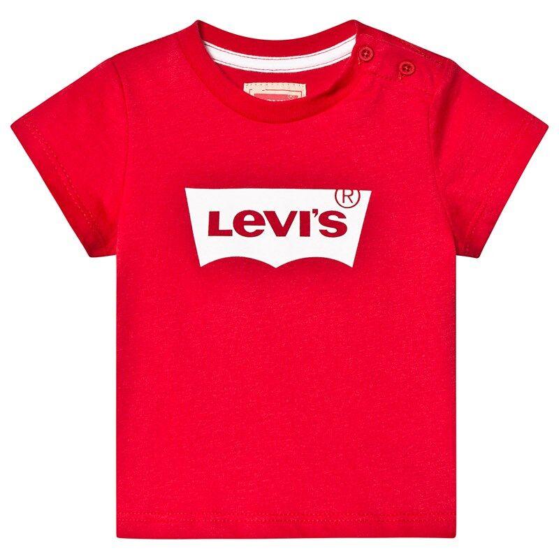 Levis Kids Batwing Logo T-paita Punainen6 months