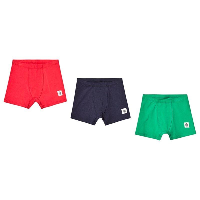 A Happy Brand 3-pakkaus Kalsarit Vihreä/Valkoinen/Punainen98/104 cm