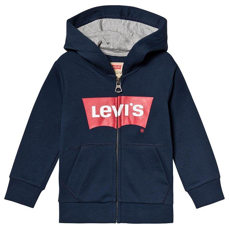Levis Kids Navy Batwing Logo Hoody10 years