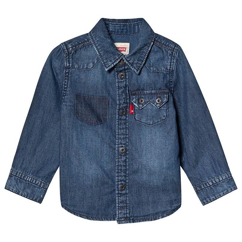 Levis Kids Blue Denim Shirt10 years