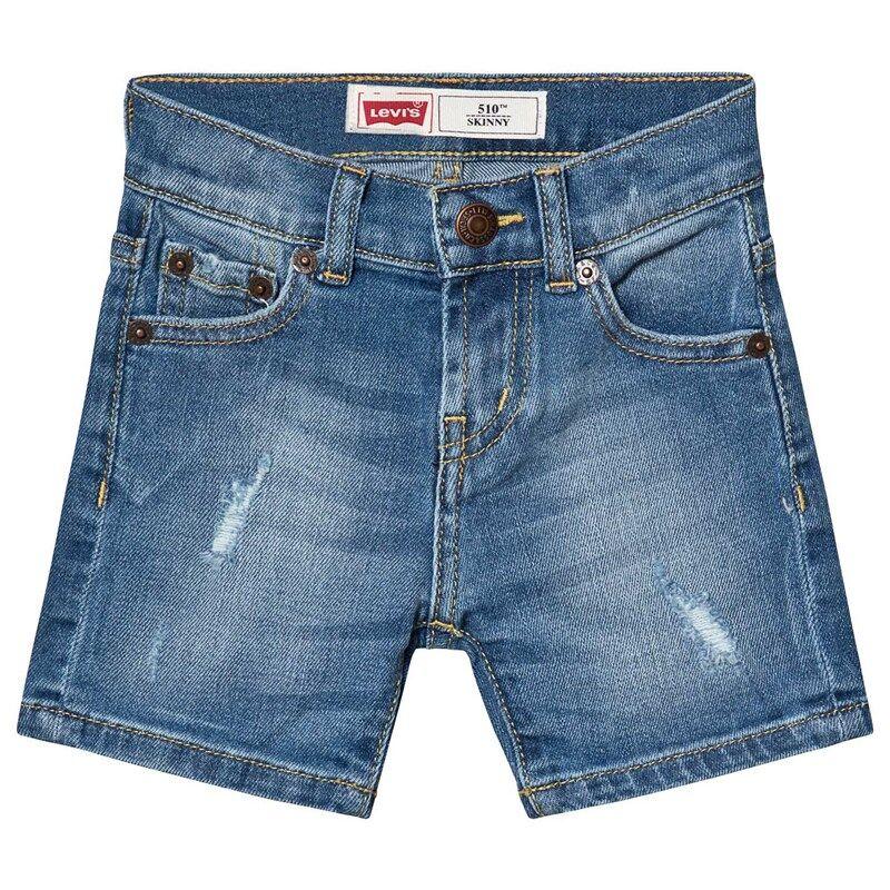 Levis Kids Mid Wash Distressed 510 Denim Shorts6 years