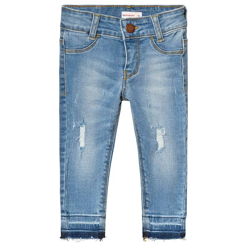 Levis Kids Blue Mid Wash 710 Super Skinny Distressed Jeans8 years