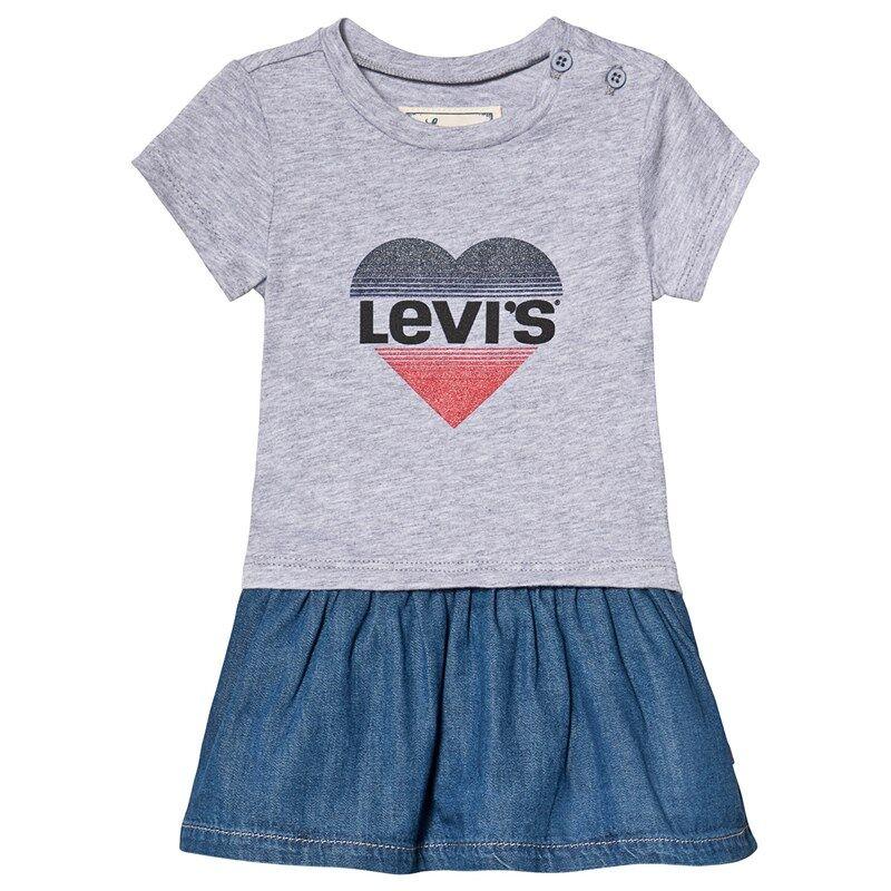 Levis Kids Grey Heart Logo Tee Dress12 months