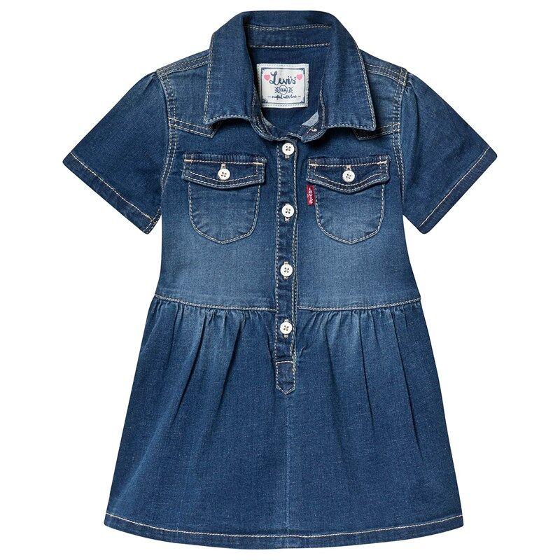 Levis Kids Blue Mid Wash Denim Dress36 Months