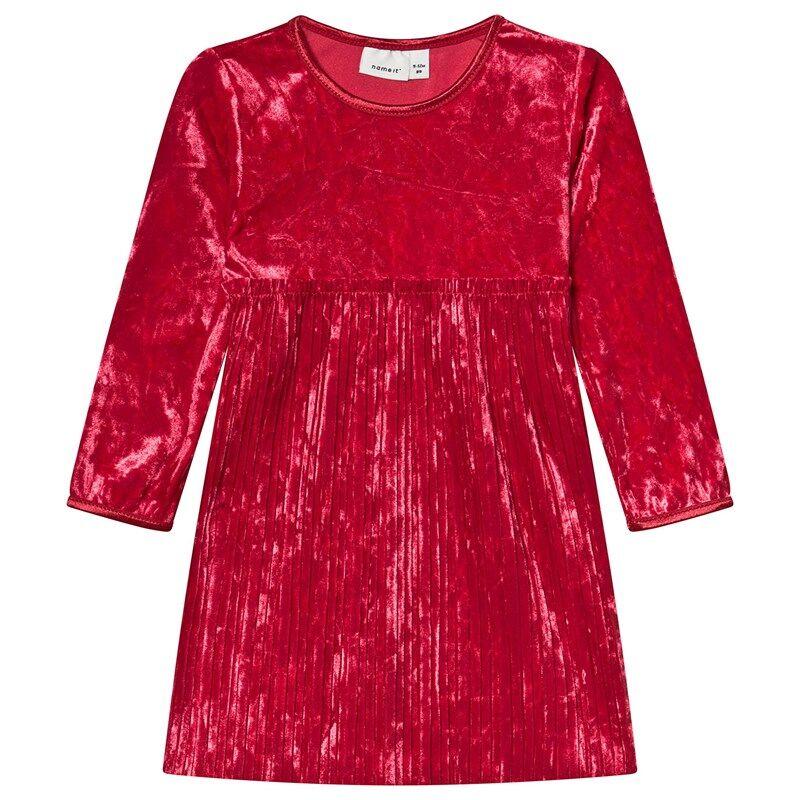 Name It Fselina Ls Vel Dress Jester Red80 cm (9-12 kk)