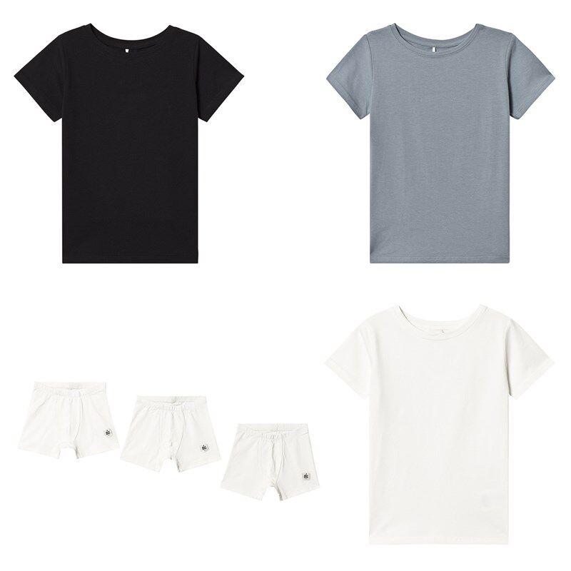 A Happy Brand 3-pakkaus T-paitoja ja Alushousuja ValkoinenOne Size