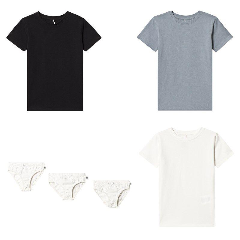 A Happy Brand 3-pakkaus T-paitoja ja Pikkuhousuja ValkoinenOne Size