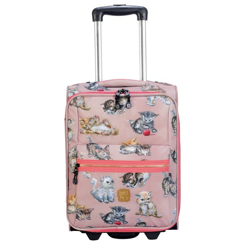 Pick & Pack Trolley Kittens Pink