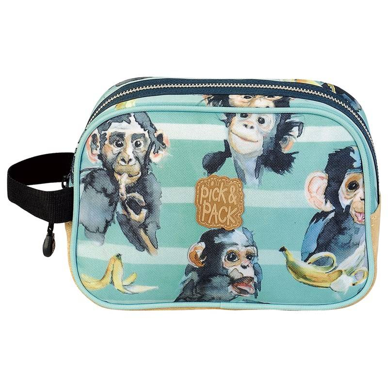Pick & Pack Toiletcase Chimpanze Green