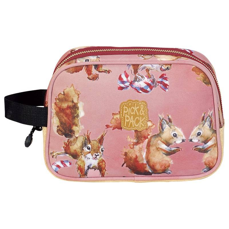 Pick & Pack Toiletcase Squirell Pink