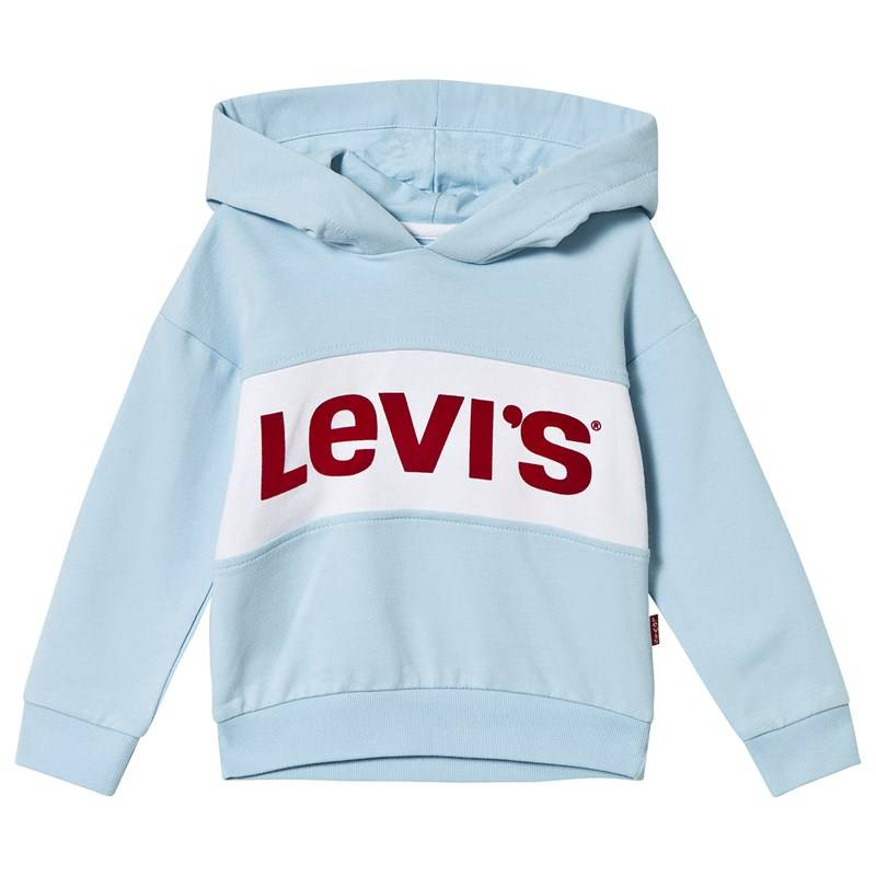 Levis Kids Pale Blue Logo Cropped Hoody12 years