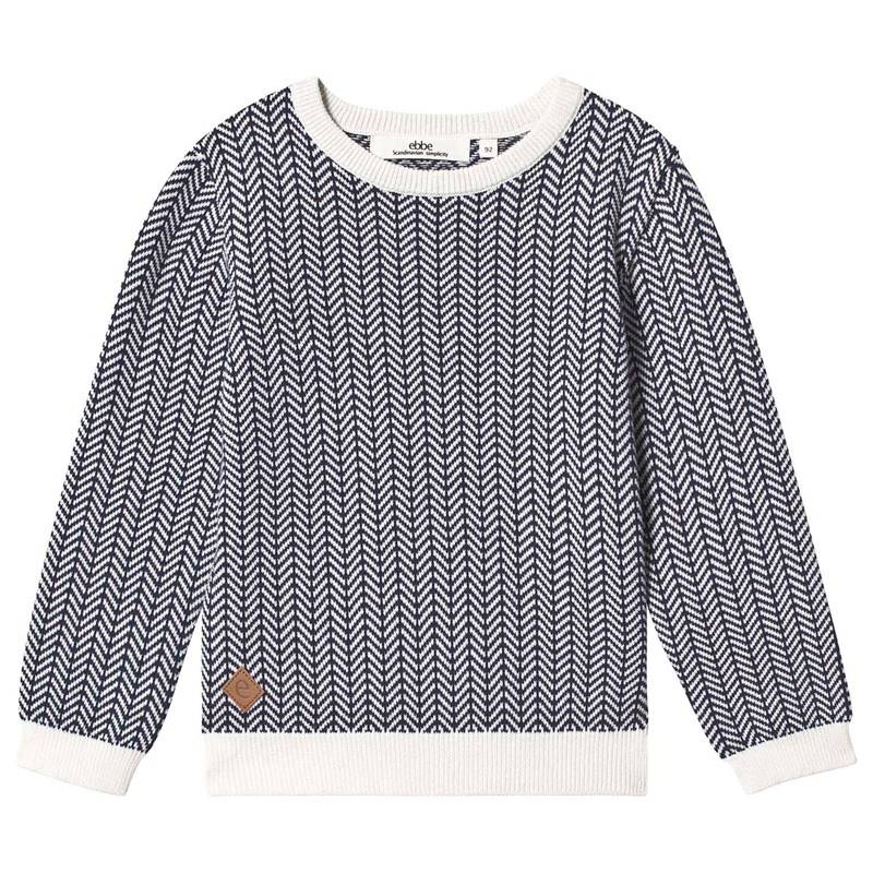 ebbe Kids Ivan Knitted Sweater Blue/White Fishbone104 cm (3-4 v)