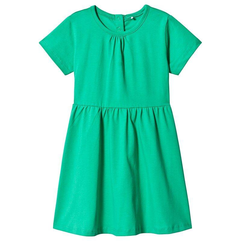 A Happy Brand SHORT SLEEVE DRESS GREEN110/116 cm